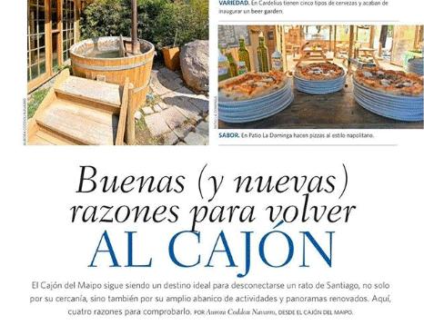 Patio La Dominga en Revista Domingo